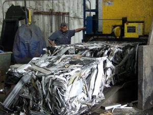 Volunteer Recycling and Salvage aluminum flat scrap