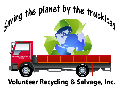 Saving the planet by the truckload graphic - Volunteer Recycling & Salvage, Inc.